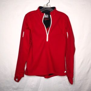 New Balance Dark Coral Pink Pullover 1/2 Zip Small